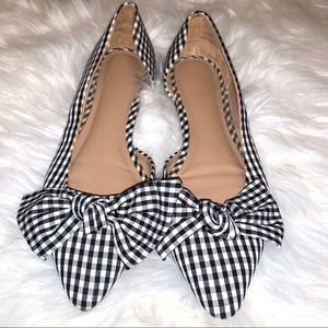 A new day Jayme bow gingham flats